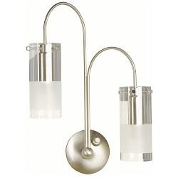 *Wandlamp Peach Staal/glas 3347ST