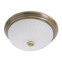klassieke plafondlamp Brons/glas 2779BR