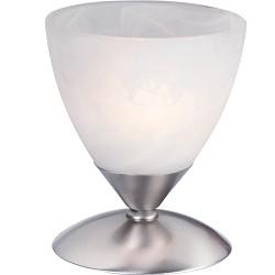 Tafellamp Burgundy nikkel/glas 6686ST
