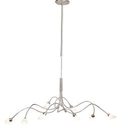 *Hanglamp Elegance nikkel/wit glas 6888S