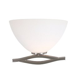 **Wandlamp Capri staal/glas woonkamer