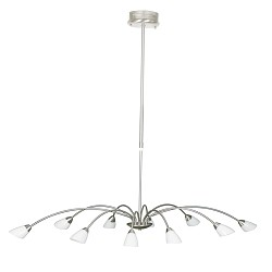 *Moderne hanglamp Elegance staal eettaf