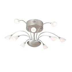 Moderne plafondlamp Tarda staal