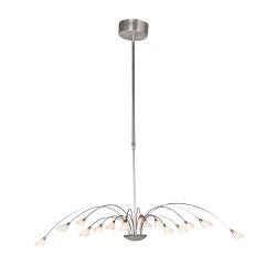 Moderne hanglamp Tarda staal eettafel