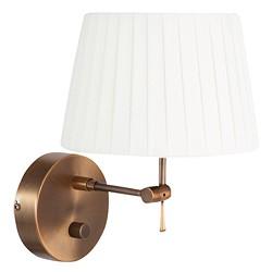 *Klassieke wandlamp brons dimbaar kap