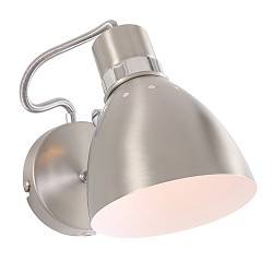 *Wandlamp Spring nikkel verstelbaar