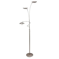 *Vloerlamp Diamond nikkel LED dimbaar