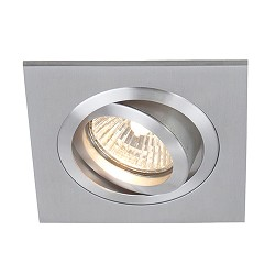 Inbouwspot aluminium vierkant verstelbaar GU10