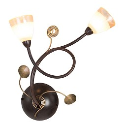 *Klassieke wandlamp bruin met glas