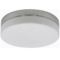 *Badkamer plafondlamp staal met wit glas