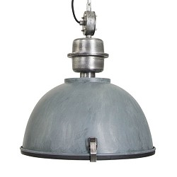 Hanglamp industrie in beton-look/grijs
