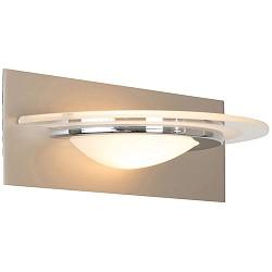 Moderne LED Wandlamp staal met chroom