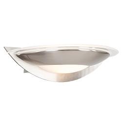 LED wandlamp modern staal met glas