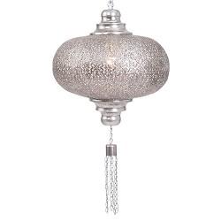Hanglamp Photona zilver opengewerkt