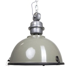 **Industriele hanglamp olijf metaal Bik