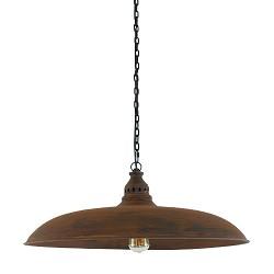 *Yorkshire eettafel  hanglamp roestbruin