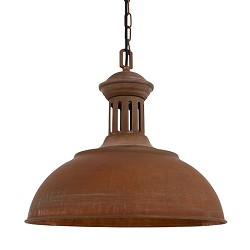 **Landelijke hanglamp Yorkshire roestbr.