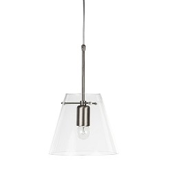 **Glazen hanglamp Pendant met staal