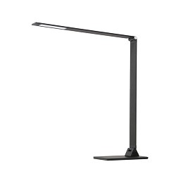 Bureaulamp zwart modern dimbaar