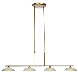 Bronzen eettafel hanglamp Monarch LED