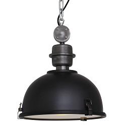 Kleine hanglamp Bikkel zwart industrieel