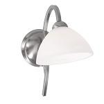 **Wandlamp Capri staal/glas slaapkamer