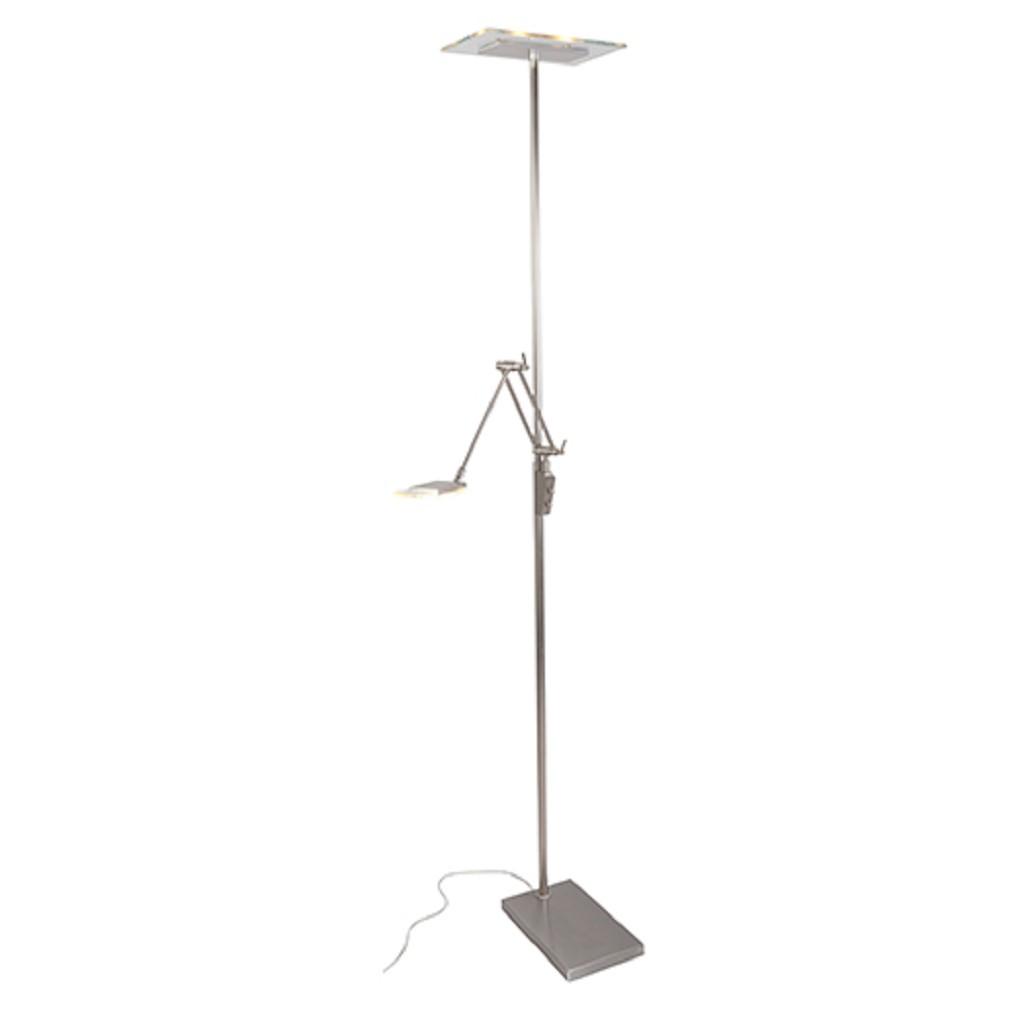 Moderne vloerlamp LED staal dimbaar