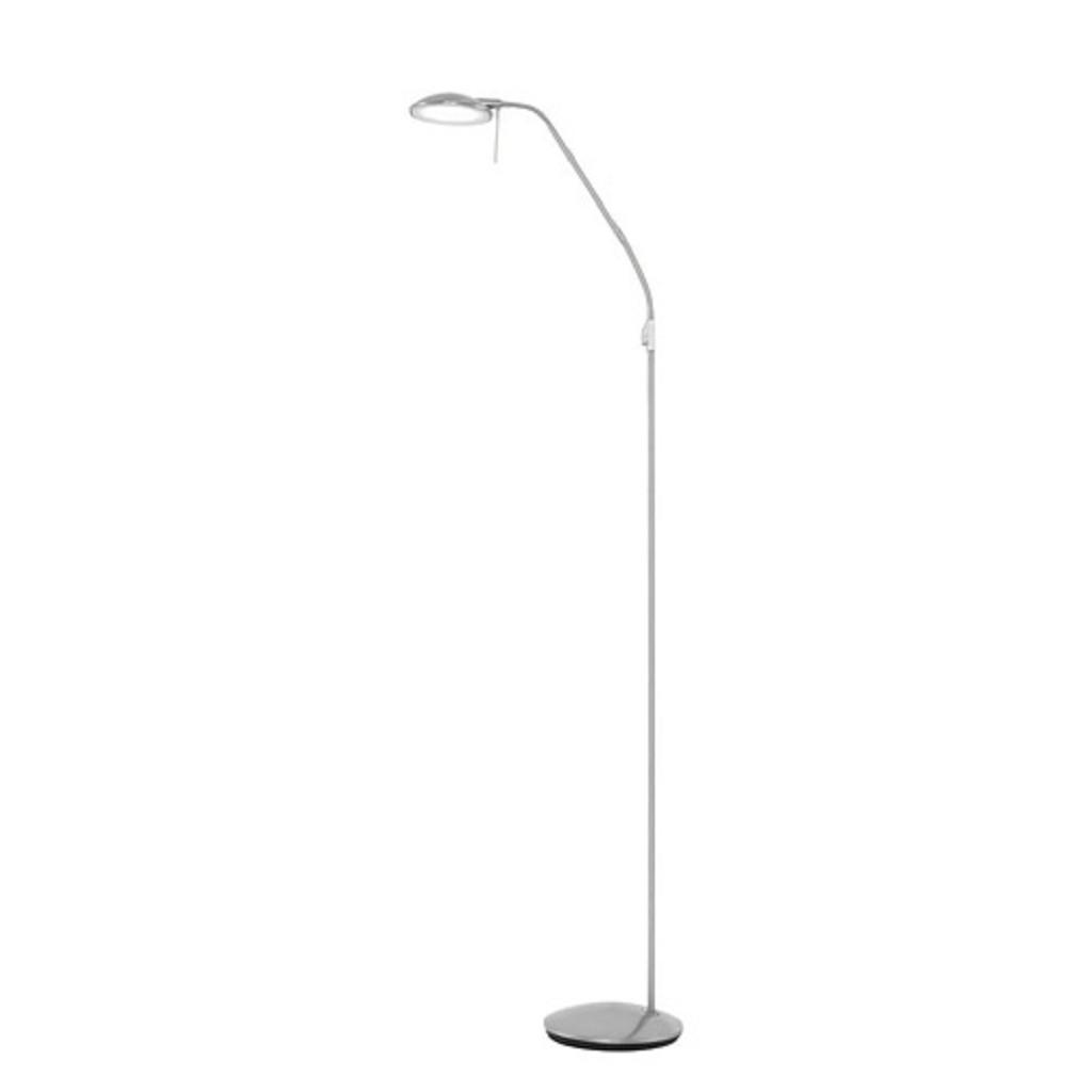 Stalen LED vloerlamp-leesl. met dimmer