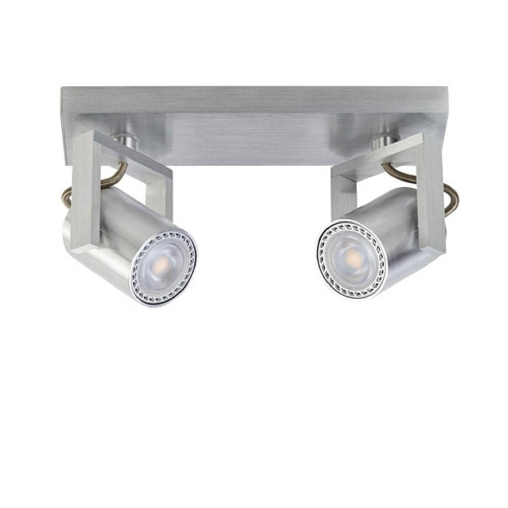 Spot alu 2-lichts+ led gu10 dim-to-warm