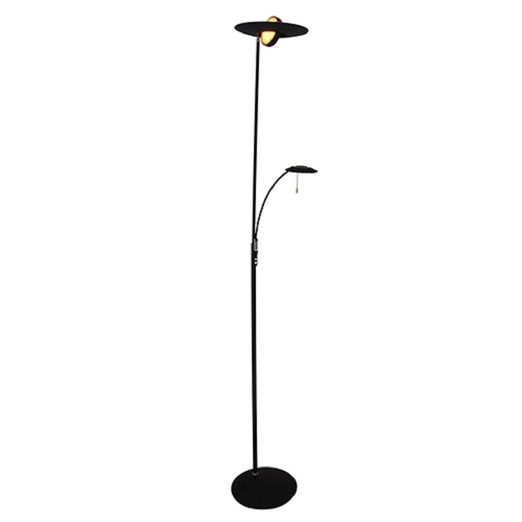 Moderne vloerlamp-uplighter LED zwart