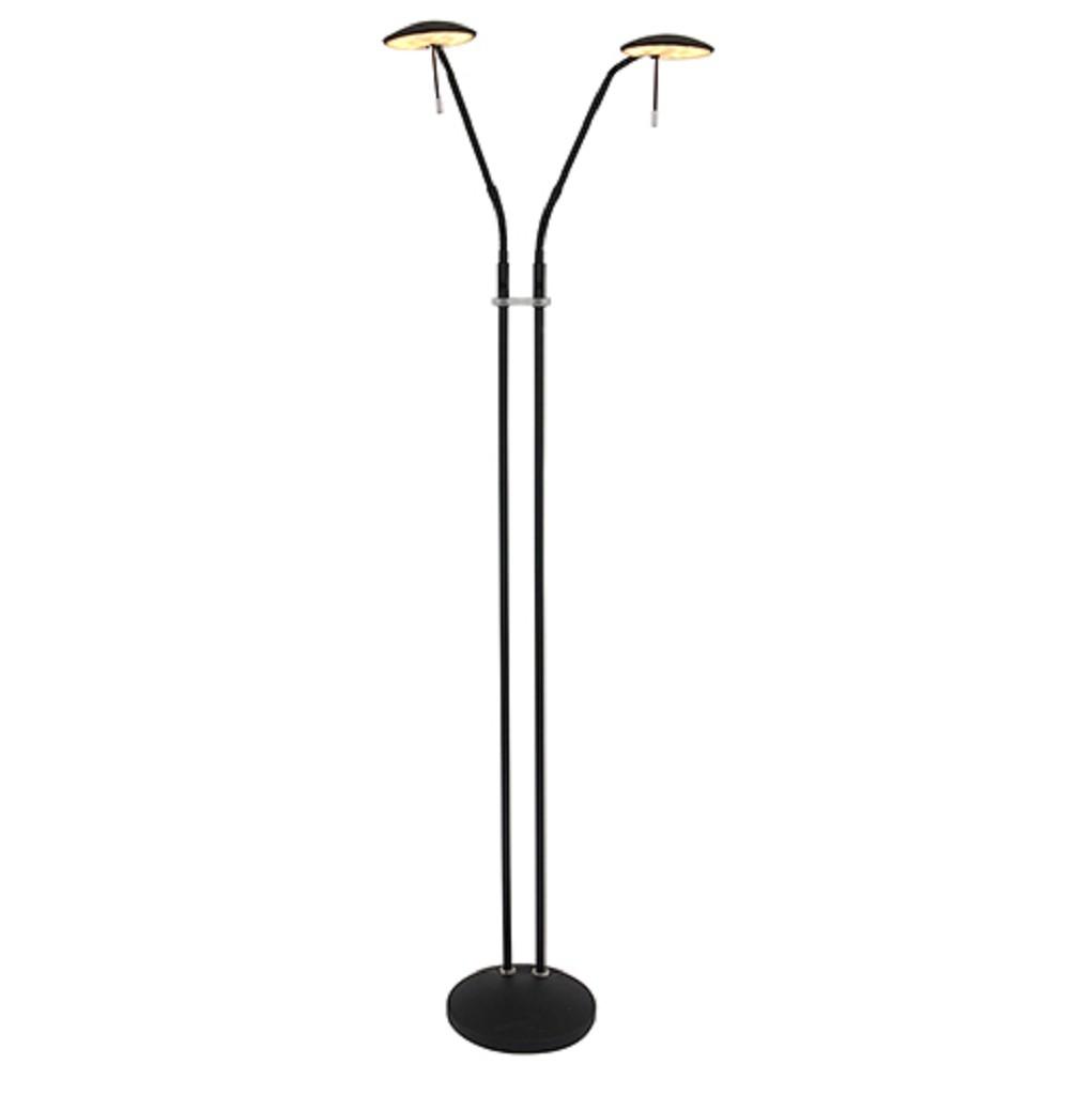 Moderne vloer/leeslamp zwart dimbaar LED