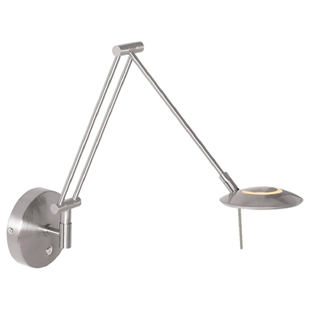 Moderne wandlamp staal met dimbaar LED