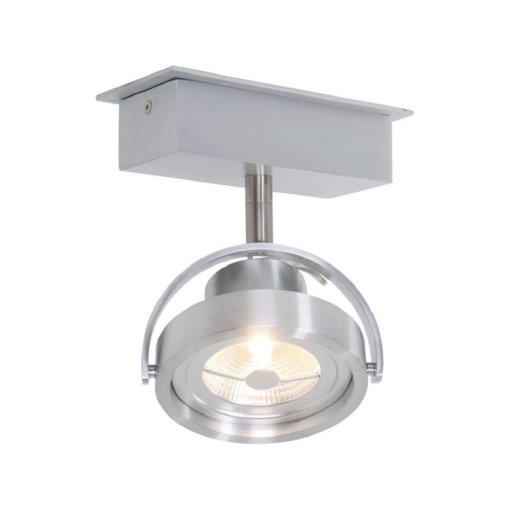 Moderne opbouwspot geborsteld staal inclusief LED
