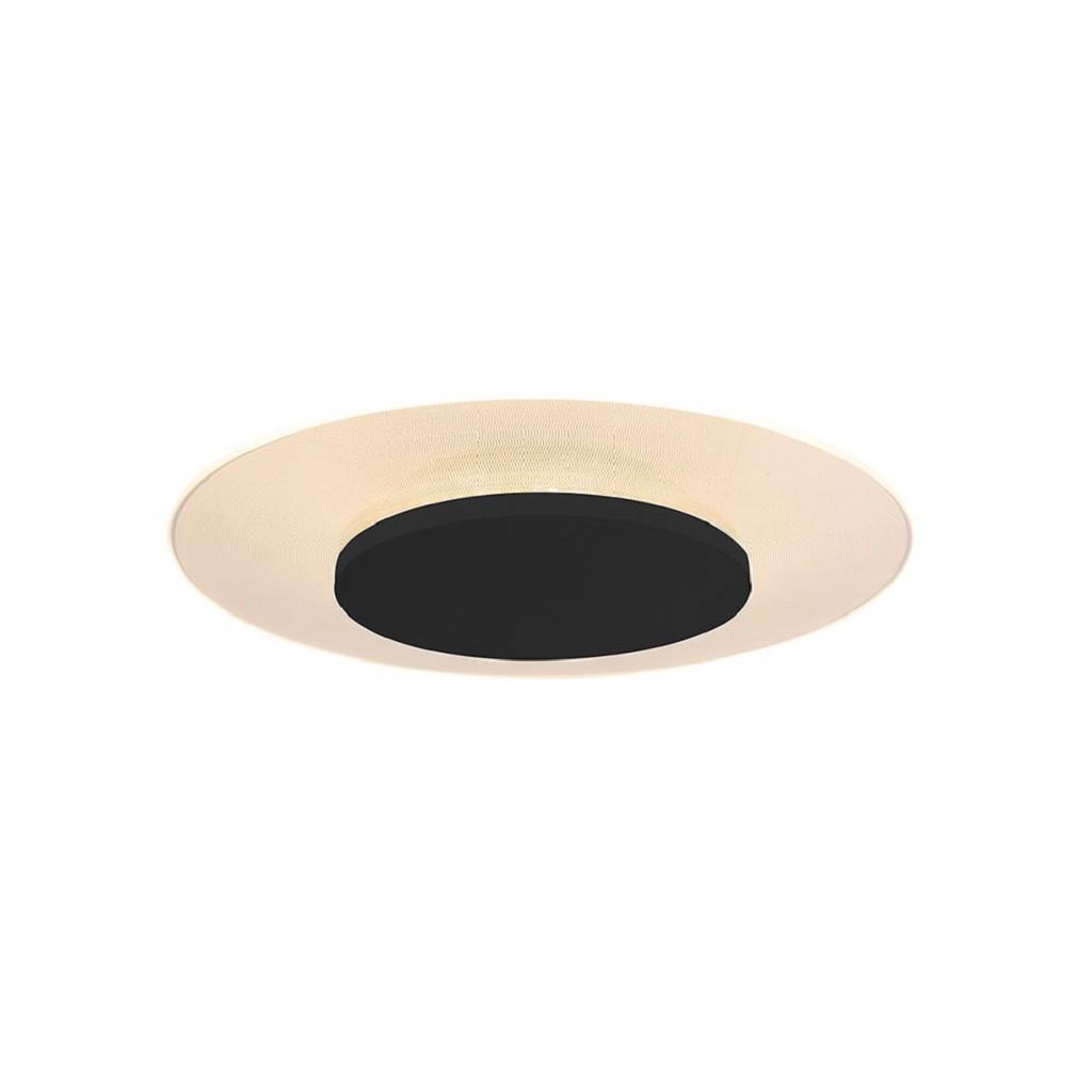 Moderne plafondlamp zwart met geïntegreerd LED