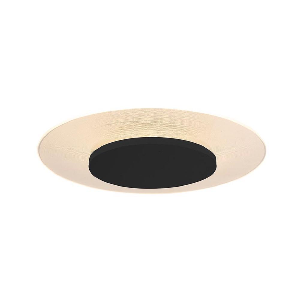 Ronde LED plafondlamp 36 cm zwart/transparant