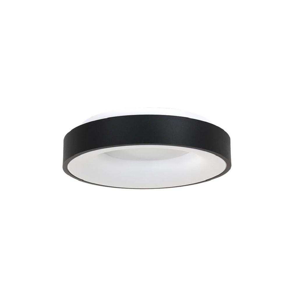 Ronde plafondlamp zwart met geïntegreerd LED