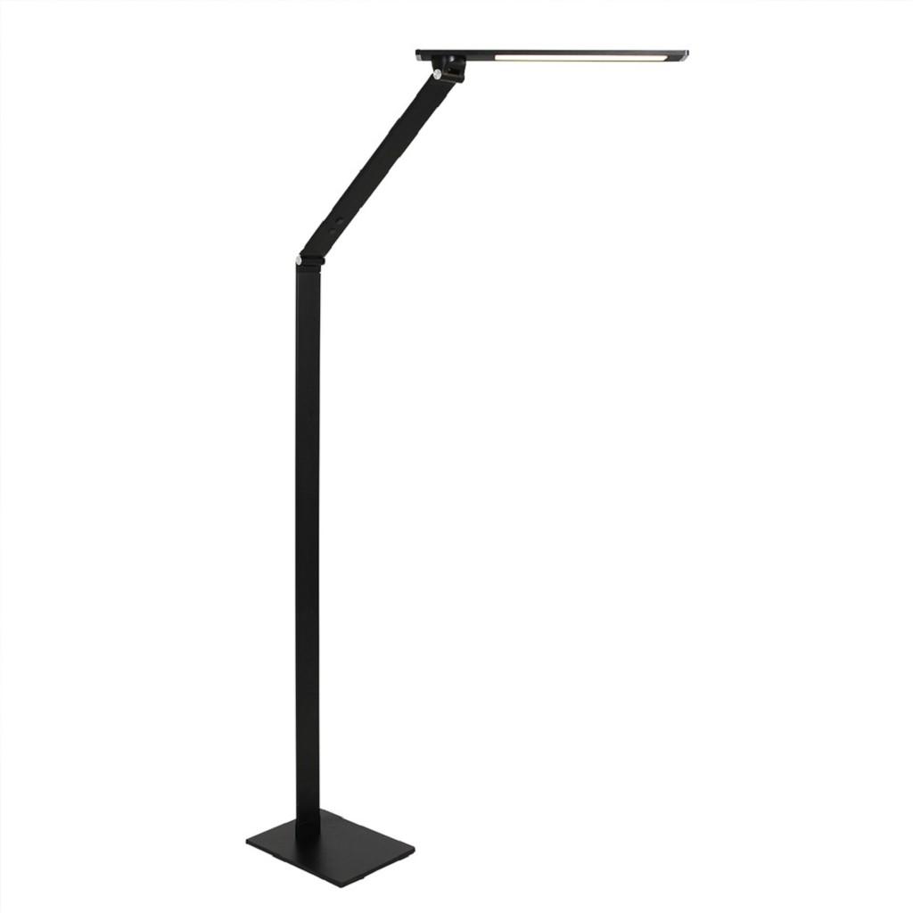 Moderne LED vloerlamp leeslamp zwart dimbaar