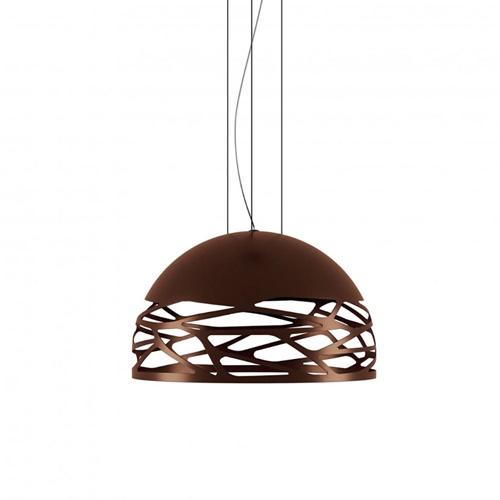 Hanglamp Kelly koepel brons 50cm