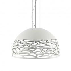 Hanglamp Kelly koepel 80cm wit