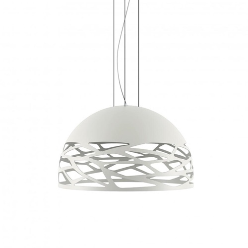 Hanglamp Kelly koepel 60cm wit