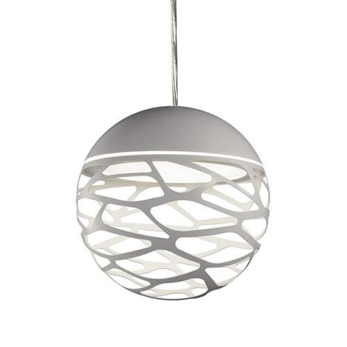 Kleine ronde design hanglamp Kelly wit