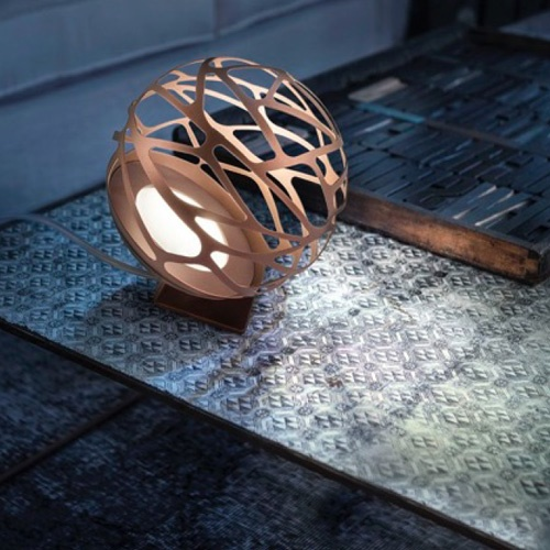 Tafellamp Kelly Sphere brons 18cm