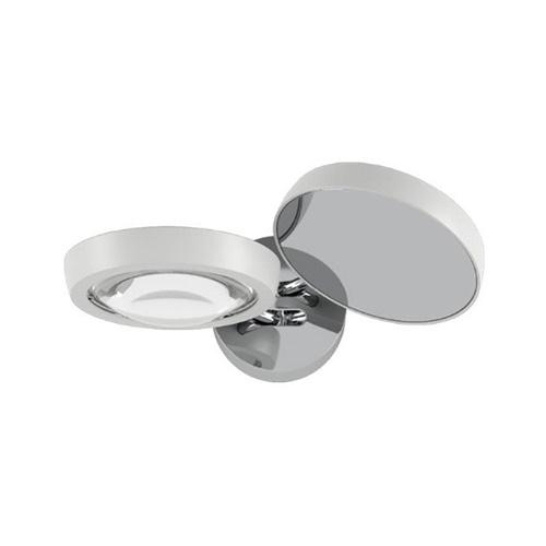 Verstelbare LED wandlamp Nautilus wit/chroom