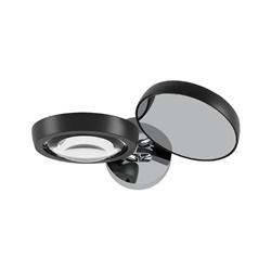 2-Lichts design wandlamp Nautilus zwart/chroom