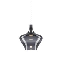 Retro design hanglamp smoke glas met LED