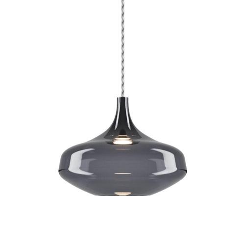 Hanglamp Italiaans design retro smoke glas inclusief LED