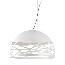 Design hanglamp koepel Kelly wit