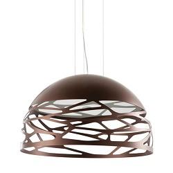 Hanglamp Kelly koepel brons eettafel