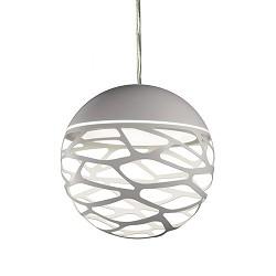 **Kleine ronde design hanglamp Kelly wit