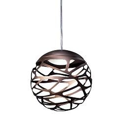 **Design hanglamp Kelly bol brons klein